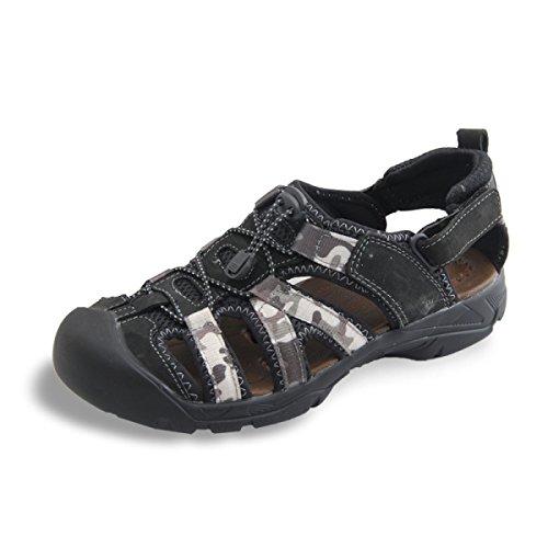 Lxxamens Beach Sandalias De Cuero De Verano Real Zapatos De Secado Rápido Zapatos Deportivos Al Aire Libre Negro