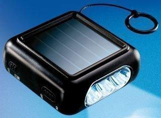 Solartaschenlampe zum Aufziehen