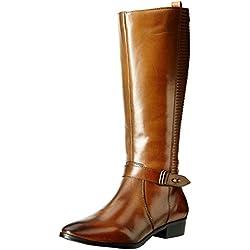Hush Puppies Women's Jemimah Tan Light Brown Leather Boots - 5 UK/India (38 EU)(5043952)
