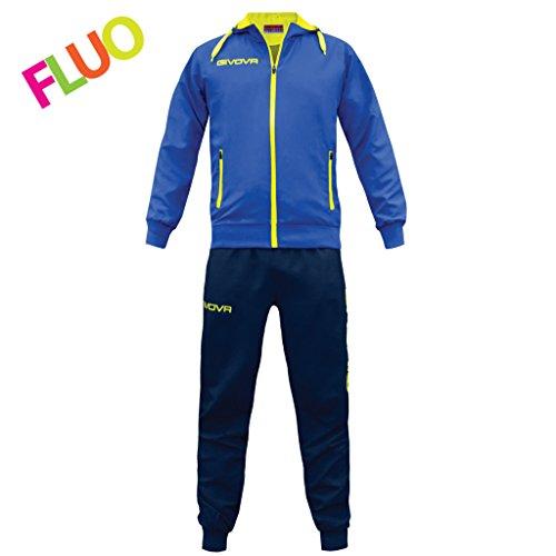 Givova, chandal winner, azul/amarillo fluo, S