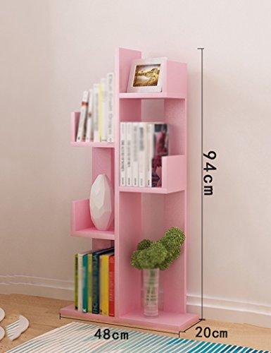 ZCJB Bücherregal Einfache Bücherregal Baumform Standing Living Multicolor Optional ( Farbe : Pink , größe : 6-Tier ) (6-tier-bücherregal)