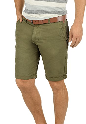 BLEND Clemens Herren Chino-Shorts kurze Hose Business-Shorts aus 100% Baumwolle Dusty Green (70595)