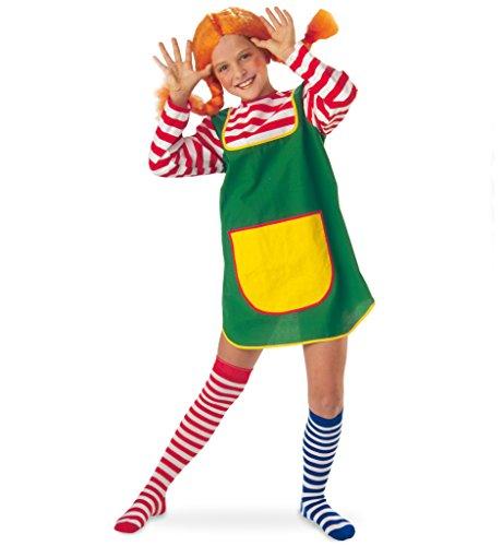 Mädchen Kostüm Freche - KarnevalsTeufel Kostüm-Set Karlinchen 3-TLG. für Kinder Göre freches Mädchen Räubertochter Zicke Giftzwerg (Set5)