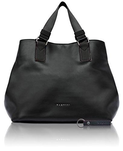 bugatti Senso borsa in finta pelle da donna - raffinata shopper, colore nero