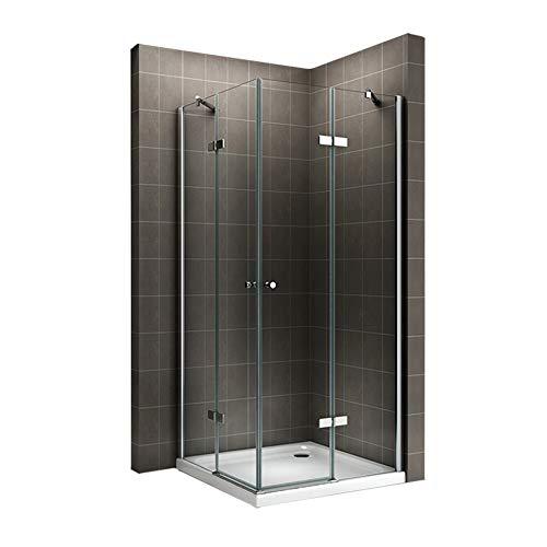 duschwand ecke i-flair Duschkabine Eckkabine mit Eckeinstieg aus 6mm ESG Sicherheitsglas #19 auch SPIEGELVERKEHRT MONTIERBAR! (85cm x 85cm ohne Duschwanne)
