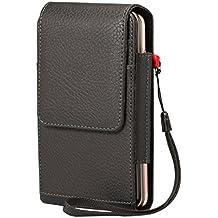 Lordwey® 5.5-6.0inch universal Doble teléfono Funda de cinturón, Vertical cuero de la PU caja de la cartera de la cintura para iPhone 7 Plus/Samsung S8 Plus/Huawei Mate8