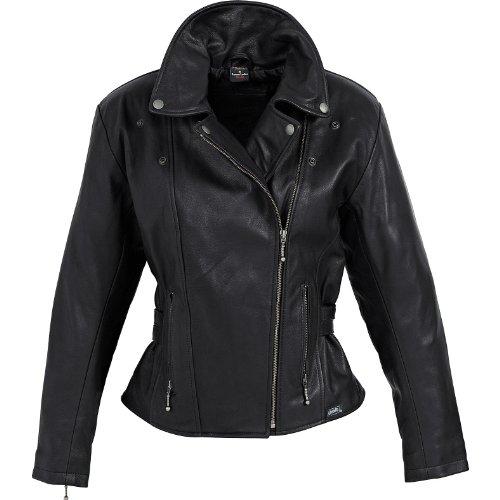 #Motorradjacke Spirit Motors Damen Soft-Lederjacke 1.0 schwarz L#