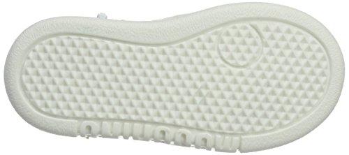 Moschino Unisex-Kinder 25986 Vitello Bianco Lettere Oro Hohe Sneaker Elfenbein (Weiss)