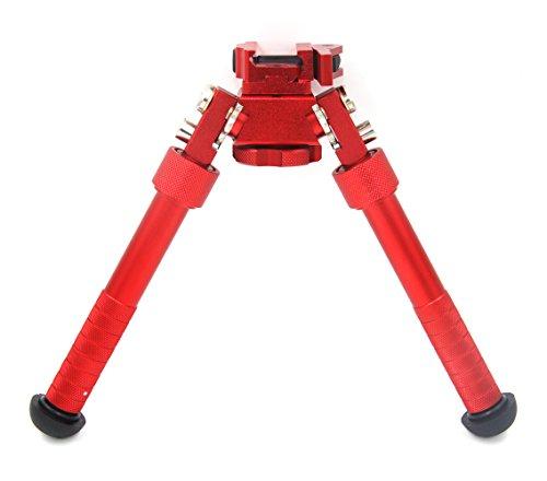 JINSE Gewehr Zweibein Bipod Picatinny Schiene QD Einklappbar Verstellbar Ständer 16,5cm-23cm Rot -