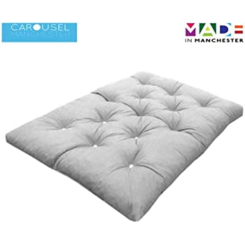 triple 3 seater memory foam futon mattress roll out bed guest bed cream 190cm x 140cm uk 9 colours available 3 sizes