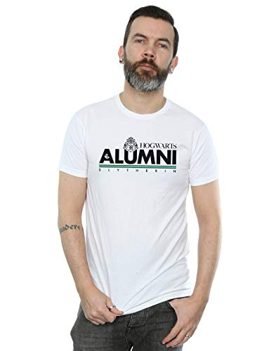 Harry Potter Herren Hogwarts Alumni Slytherin T-Shirt Weiß XXXX-Large