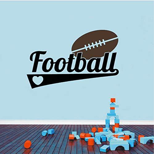 wuyyii 57X36 CM Fußball Sport Decor Vinyl Aufkleber Wandaufkleber Wörter Buchstaben Junge Teen ZimmerB