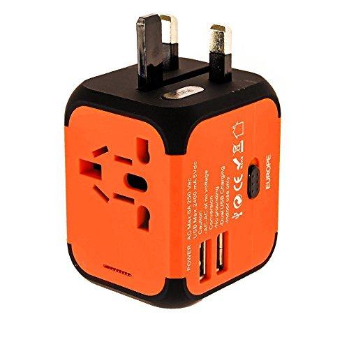 Cube Plug, neue Universal-Adapter mit Dual USB-Ports für Apple, iPod, iPad, Android Smartphone und Digital Kameras] Universal AC Sockel, Sicherheit verschmolzen Digital 110v Ac Power Adapter