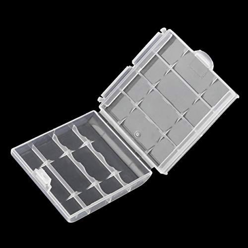 Plastic Battery Storage Box Hard Plastic Case Batteries Holder 6cm×1.5cm×6cm