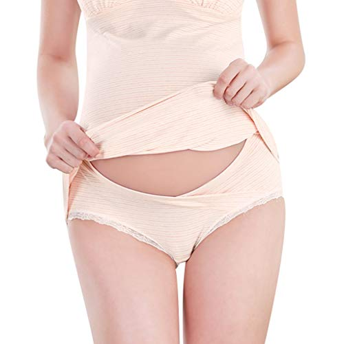 Yvelands Damen Schwangerschafts Unterwäsche, Portal Women Under The Bump Maternity Panties (Khaki1,CN-L)