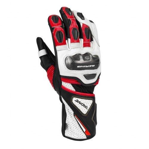 Bering-Guanti da moto Pro R, nero/rosso, taglia T10