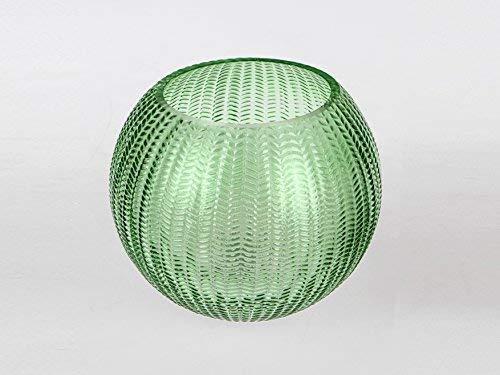 Small-Preis Kugelvase Grün Glas im Top Aktuellen Design Vase Dekoration Tischdekoration Formano