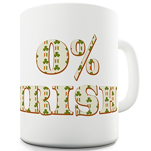 Twisted Envy 0% Irish St Patrick's Day Shamrock Irish Flag Ceramic Tea Mug