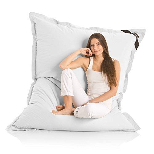 Lazy Bag Original Indoor & Outdoor Sitzsack XXL 400L Riesensitzsack Sitzkissen Sessel für Kinder & Erwachsene 180x140cm (Hellgrau)