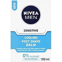 Nivea Men Sensitive Cooling Aftershave Balm, 0% Alcohol Skin Care, 100 ml