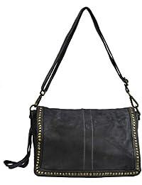 434cb5eec8015 BZNA Bag Gil Grau grey Italy Designer Clutch Umhängetasche Damen Handtasche  Schultertasche Tasche Leder Shopper Neu