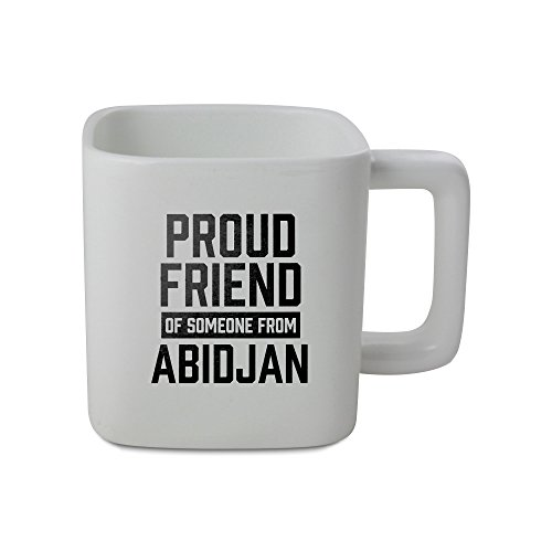 11oz square shaped mug with Proud friend of someone from Abidjan
