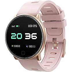 Smart Watch, UMIDIGI Uwatch2 Bluetooth Smartwatch per Donna Uomo Bambini Compatibile Android iOS, IP67 impermeabile, tracker attività fitness con cardiofrequenzimetro (2 cinturini)