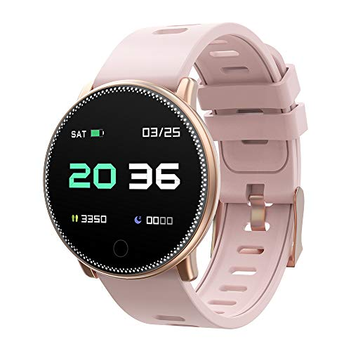 UMIDIGI Uwatch2 Smartwatch Fitness Tracker Sport Ambanduhr Smart Watch mit Facebook, Twitter, Whatsapp, Skype-Benachrichtigung kompatibles IOS und Android für Herren Damen(2 Uhrenarmbändern), Gold
