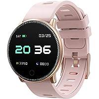 UMIDIGI Uwatch2 Smartwatch Fitness Tracker Sport Ambanduhr Smart Watch mit Facebook, Twitter, Whatsapp, Skype-Benachrichtigung kompatibles IOS und Android für Herren Damen(2 Uhrenarmbändern), Gold