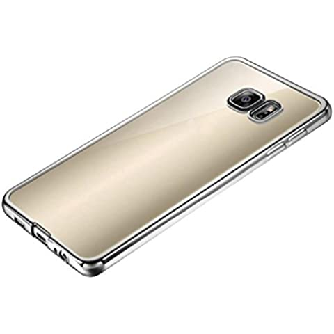 Ouneed® Bordo Di Lusso Specchio Slim Caso Della Copertura Per Samsung Galaxy S7 edge (Argento) - Pulsanti Turtle