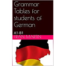 Grammar Tables for students of German: A1-B1 level (English Edition)