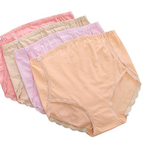 Women's clothing Mutterschafts-Slip, Baumwolle hohe Taille Unterstützung Bauch Schwangere Frauen Unterwäsche Schmerzen zu lindern, große Damen Spitzen Unterwäsche geeignet für 50-80 kg - Baumwolle Womens Unterwäsche