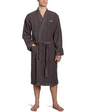 Tom Tailor 100300/902/703 Kimono Bademantel, Gr. L, dunkel grau