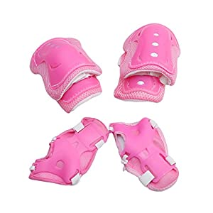 Albeey Knee Pad , Kid's Protective Gear Set Knee Elbow Pads Wrist Support for Child Roller /Skating/Bike /Skateboard
