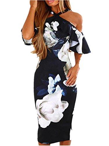 Vestito Vestiti da donna Elegante feiXIANG® Donne Sexy Stampa Abito Sera  Festa Spiaggia Abiti Sundress Abito lungo maxi Abito Off spalla Vestito  Estivo Da ... 53198d57cbf