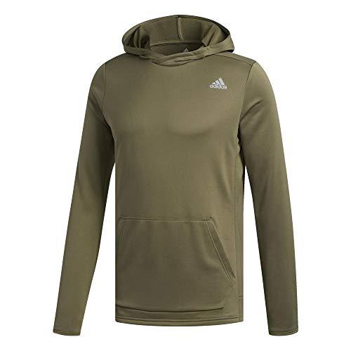 adidas Own The Run Hoodie Men Sweatshirt, Herren XL Braun (raw Khaki)