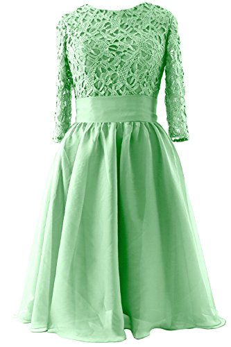 MACloth - Robe - Trapèze - Manches 3/4 - Femme verde menta