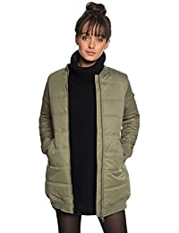 4178612b007 Roxy Fade out - Chaqueta Bomber Acolchada Impermeable de Corte Largo para  Mujer