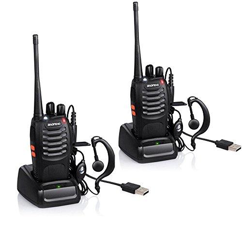 QITAO® BAOFENG Walkie-talkie Funkgerät 16 Kanäle Sprechfunkgerät Funktelefon in beiden Richtungen Gegensprechanlagen Funkhandy (2PCS) (Cb-funk Kleine)