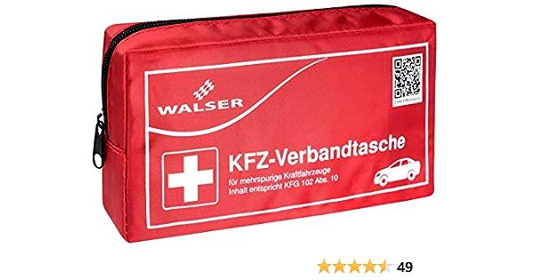 Walser 44155 Kfz Verbandstasche Nach Kfg 102 Abs 10 Rot Erste Hilfe Set Auto Verbandtasche Auto