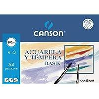 Canson 402393 - Papel Para Acuarela, 6 Hojas