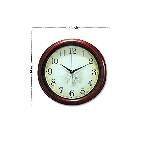 Istore Round Designer 14 inch Wall Clock with Glass for Home Office