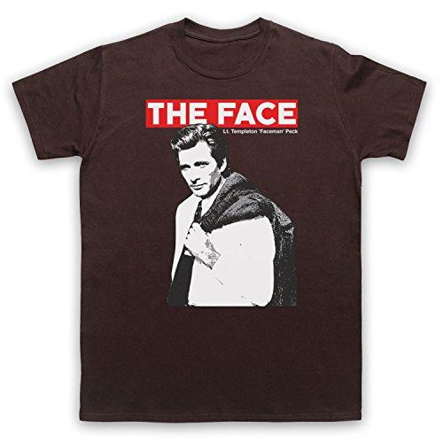 Inspiriert durch A Team Face LT Templeton Faceman Peck Unofficial Herren T-Shirt Braun