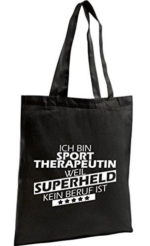 Shopping Bag Zuppa Biologica Zen, Shopper Sono Un Terapista Sportivo Perché Il Supereroe Non È Una Professione, Nero
