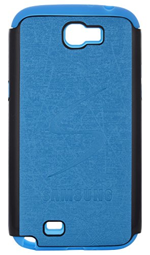 iCandy Leather Finish Hybrid Hard PC + Soft Rubber Back Cover for Samsung Galaxy Note 2 N7100 - TURQUOISE  available at amazon for Rs.99