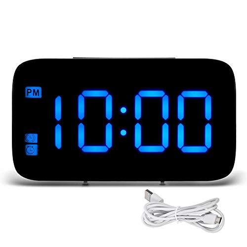 OXOQO Reloj Despertador Viaje LED Digital función
