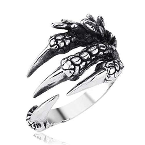 WEIGZ Skeleton-Ringe Eagle Claw Ring (Männer Skeleton Ringe)