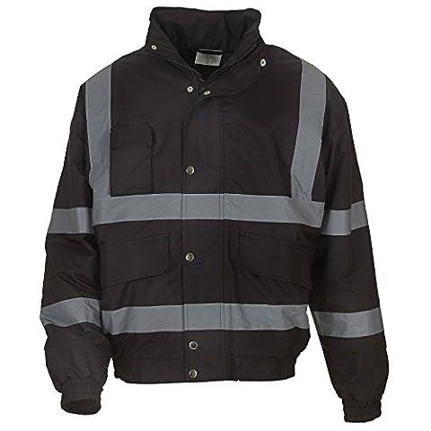 Men's Hi vis classic bomber jacket (HVP211) YOKO Inside Patch