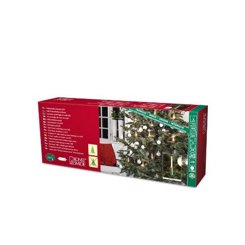 Konst Smide 1166-000 - Guirnalda de luces led para el árbol de Navidad (16 velas luminosas, 16 diodos de cálida luz blanca, transformador interno de 4,5 V, incluye interruptor)