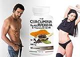 CURCUMINA Plus 95% ad alto DOSAGGIO 500mg per compressa potenziata con PIPERINA (60 CPR) per la perdita...